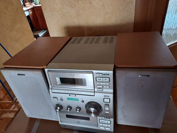 Wieża magnetofon, radio,, cd i kolumny