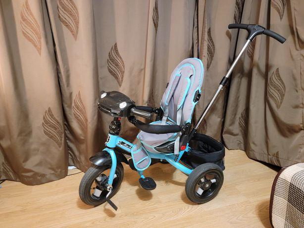 Велосипед трехколесный с ручкой Т400 Mars Mini Trike Бирюзовый