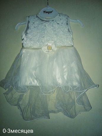 Платьем на крещение девочки 0-3 месяца
