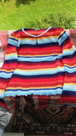 Bluzka boho, hippie kolorowa