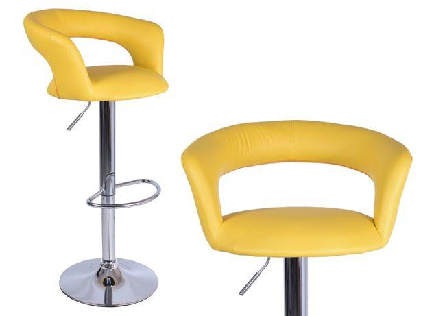 Hoker MALIBU żółty do kuchni jadalni krzesło obrotowe wygodny
