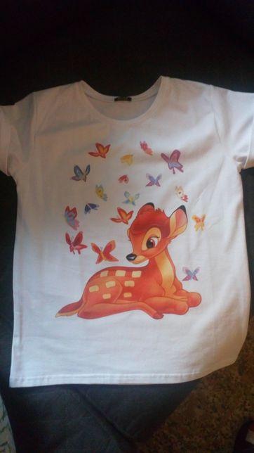 Tshirt bambi biały