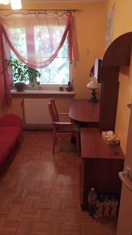 Zestaw mebli: biurko, szafka, półki, szafa, pawlacz. Pilnie