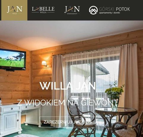 Voucher - Zakopane Willa Jan/ Labelle do wyboru