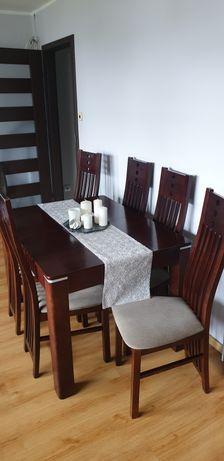 Stół  z 6 krzeslami