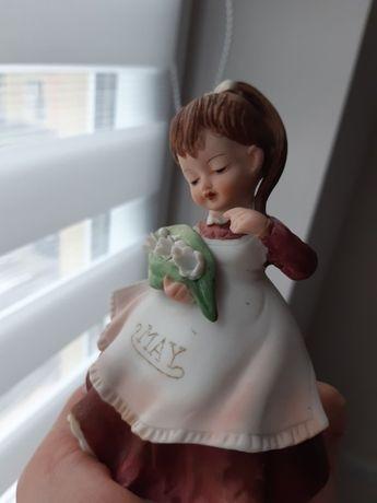 lefton figurka sygnowana, laleczka dziewczynka