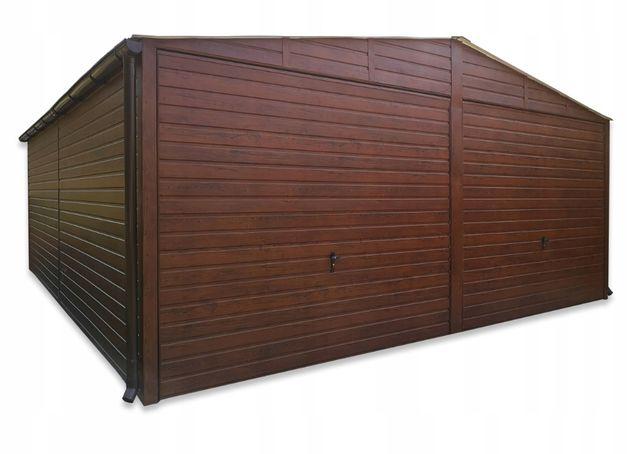 Garaż drewnopodobny blaszanyblaszak 6x7+2x bramana każdy wymiar