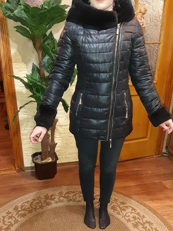 Куртка, с мехом мутон размер 42
