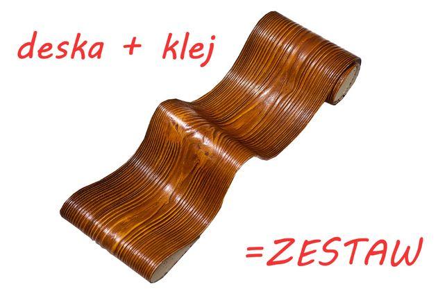 Imitacja deski deska elewacyjna elastyczna wstawki drewniane okładzina