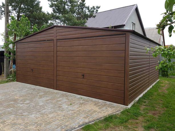 Garaże Garaż Drewnopodobny 6x5,8 Producent