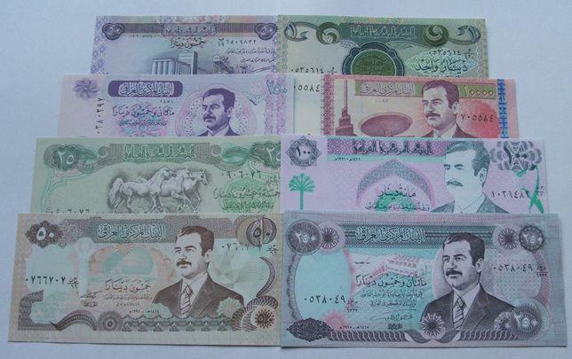 Banknoty IRAK SADAM HUSAJN - Z PACZKI BANKOWEJ - Zestaw Kolekcjonerski