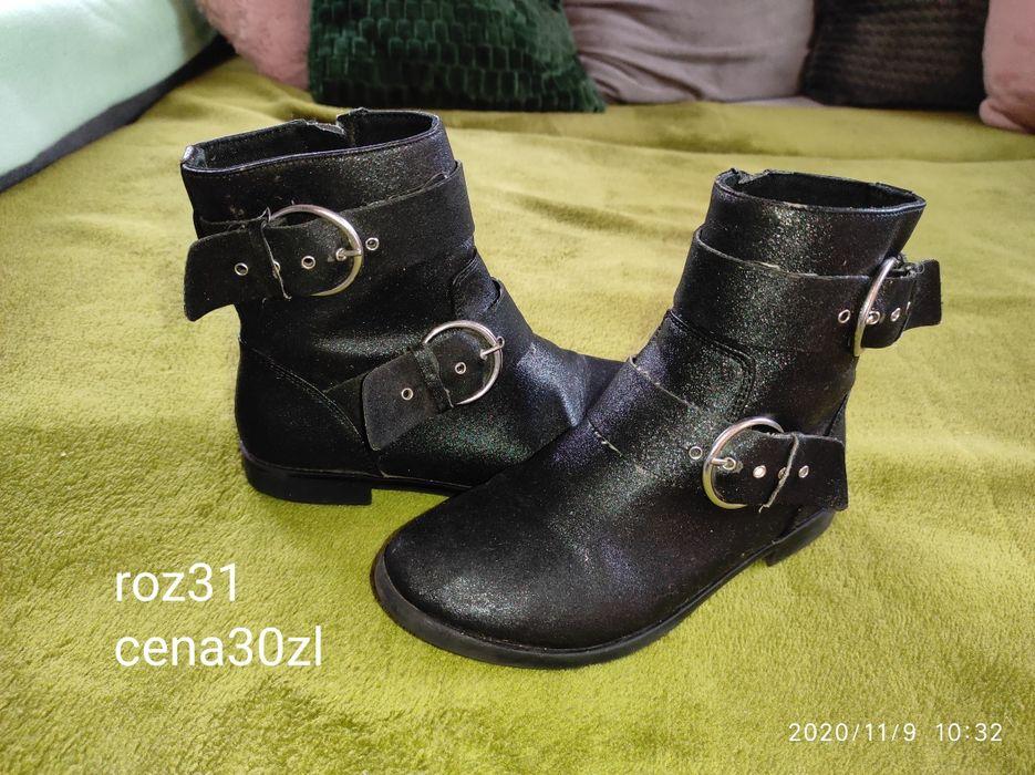 Czarne botki sztyblety Zara 31 Płock - image 1