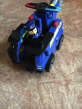 Игрушка гонщик щенячий патруль spin master машина трансформер самолет