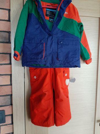 Zimowy komplet kurtka spodnie narciarskie 3-4 lata TRESPASS ETIREL