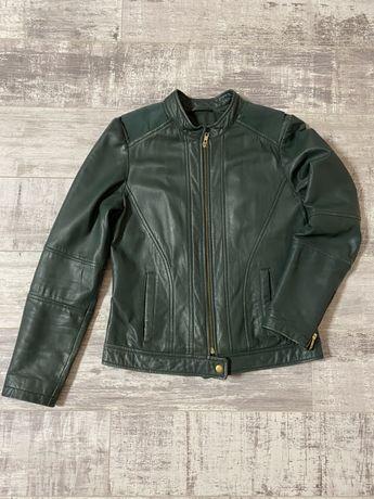Натуральная Кожанная куртка , кожанка зеленая
