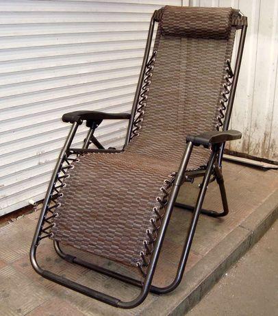 Усиленный польский садовый пляжный шезлонг кресло лежак gravity 150кг