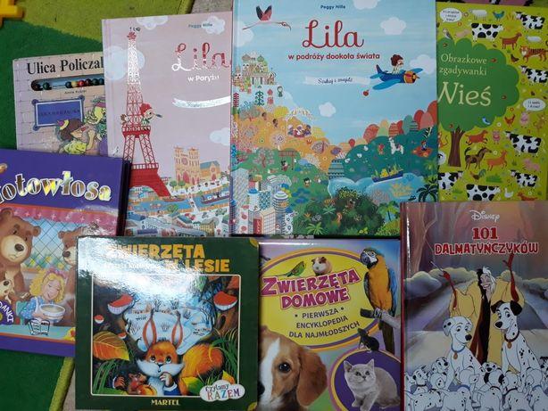 Zestaw książeczek dla dzieci rozkładana zagadki szukaj i znajdz