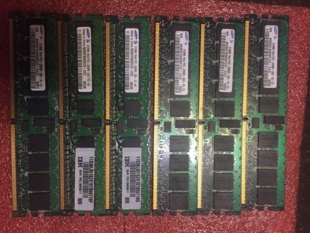 Память серверная DDR2 1Gb (512 и 2ГБ) PC2-3200R ECC