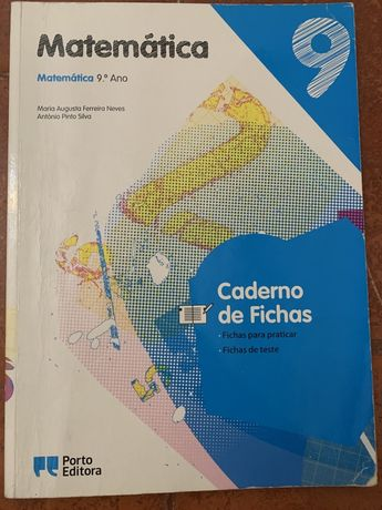 Matematica 9 caderno de fichas Porto Editora