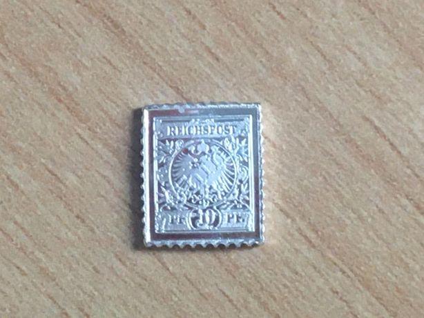 Znaczek srebro