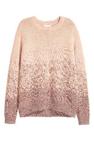 H&M ciepły sweter z metaliczną nitką r. 38