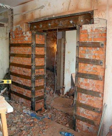 Проемы Алмазная резка дверных проемов с усилением Проект усиления