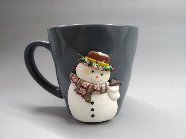 Чашка. Декор из полимерной глины