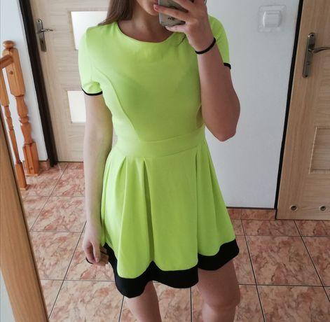 Neonowa sukienka