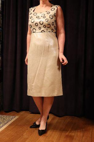 Elegancki kostium - sukienka z marynarką rozmiar 42
