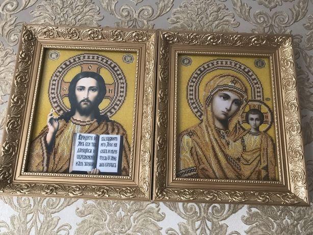 Ікони вишиті чеським бісером