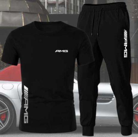 Kit AMG & Kit Toyota T-Shirt e Calças Algodão Original