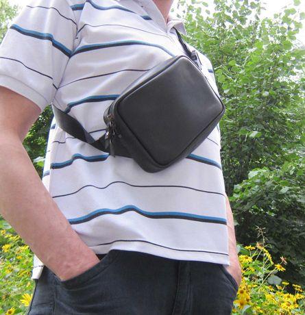 новая сумка бананка натуральная кожа сумка на пояс сумка через плечо