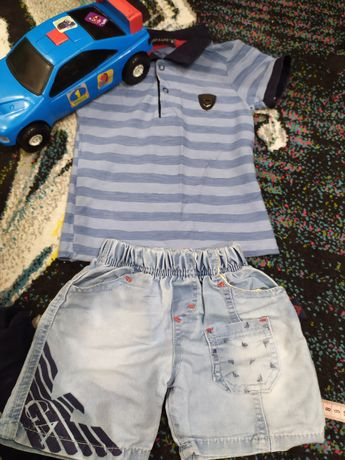 Костюм джинсовые шорты и футболка