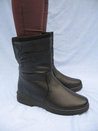 Сапоги женские с широким голенищем на ногу 27 см купить олх