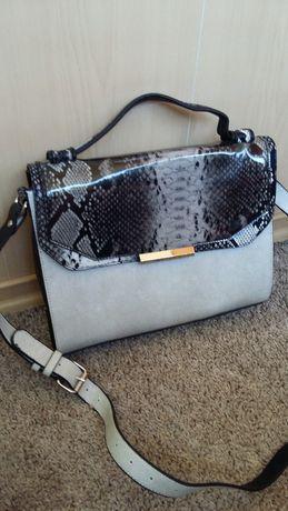 Стильня сумка портфель с принтом Новая