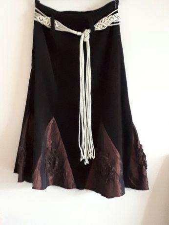 ciemnobrązowa spódnica, r. S (36)