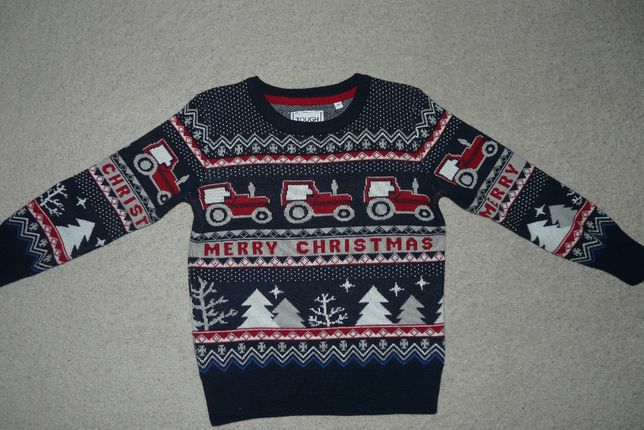 sweter r.122 C&A świąteczny, Boże Narodzenie , Mikołaj
