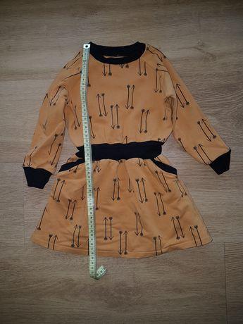 Sukienka dziewczęca z kieszeniami rozmiar 86/92