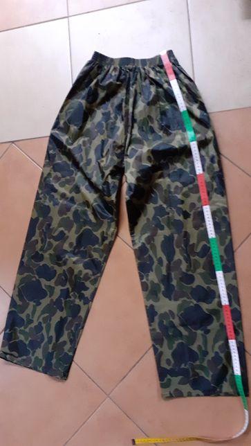 Spodnie wodochronne, moro, wędkarskie M