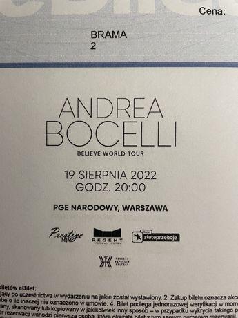 Andrea Bocelli  5 biletów na koncert pgn narodowy Warszawa