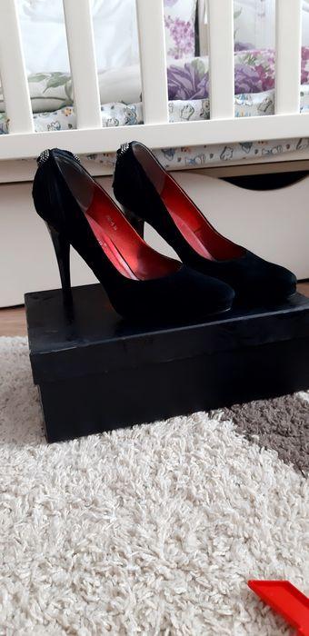Чорні замшеві зручні туфельки на Попелюшку Винница - изображение 1