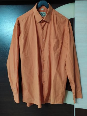 Męska koszula r42 pomarańcz