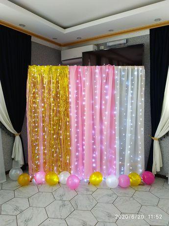 аэродизайн, фотозона(арка), банер, украшения, день рождения, свадьба