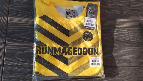 Runmageddon T-shirt męski żółty XXL 2019 koszulka męska krótki rękaw
