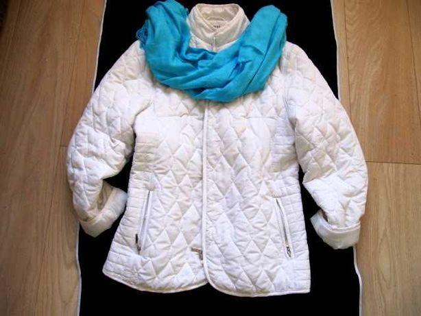 Pure & Natural kurtka śliczna biała pikowana