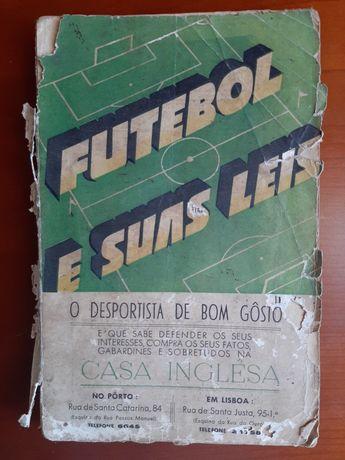 Livro antigo Futebol e suas leis - 1939