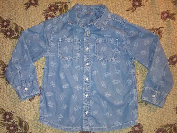 """Рубашка с рисунком """"Роботы"""", 3-4 года"""