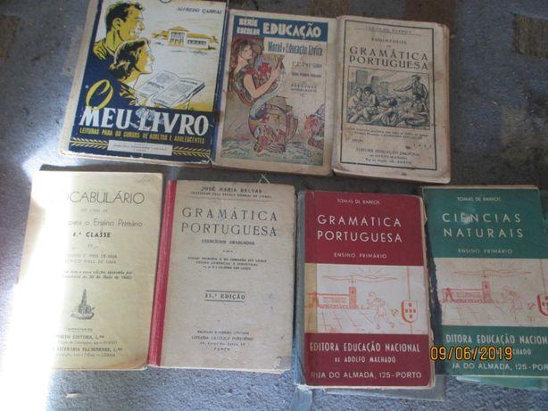 7 livros escolares antigos anos 30, 40 e 50