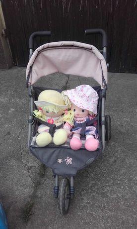wozek dla lalek blizniak+lalki gratis