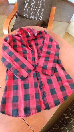 Koszula w czarno-czerwoną kratkę